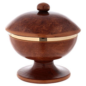 Pisside ceramica ottone dorato coperchio s4