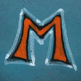 Platillo cubre cáliz, cerámica color turquesa símbolo Mariano s2