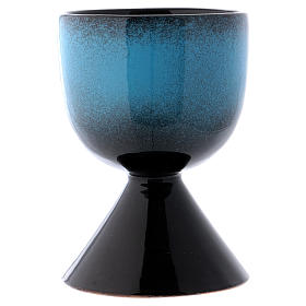 Ceramic chalice with Marian symbol s2