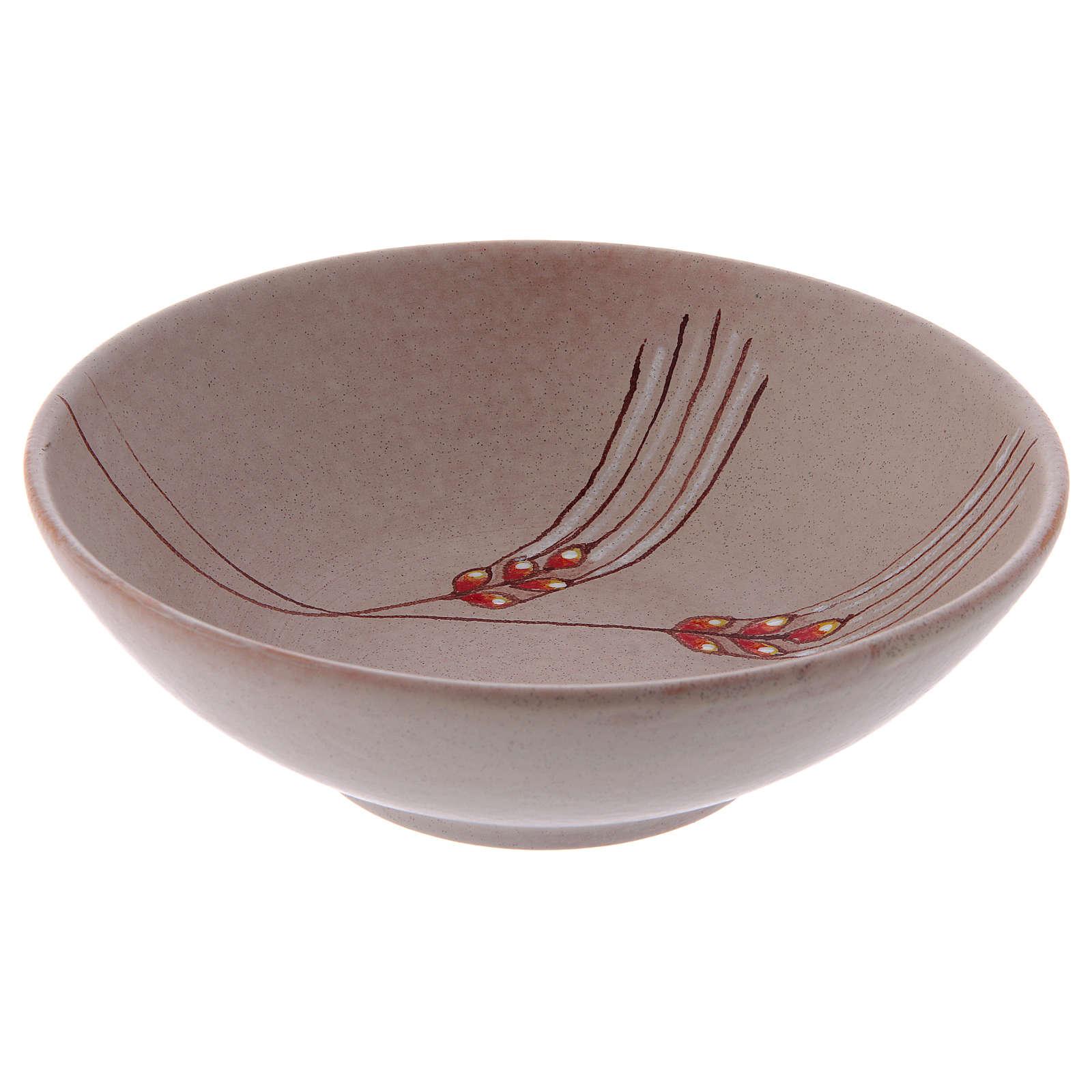 Patena de cerámica  beis, 20cm 4