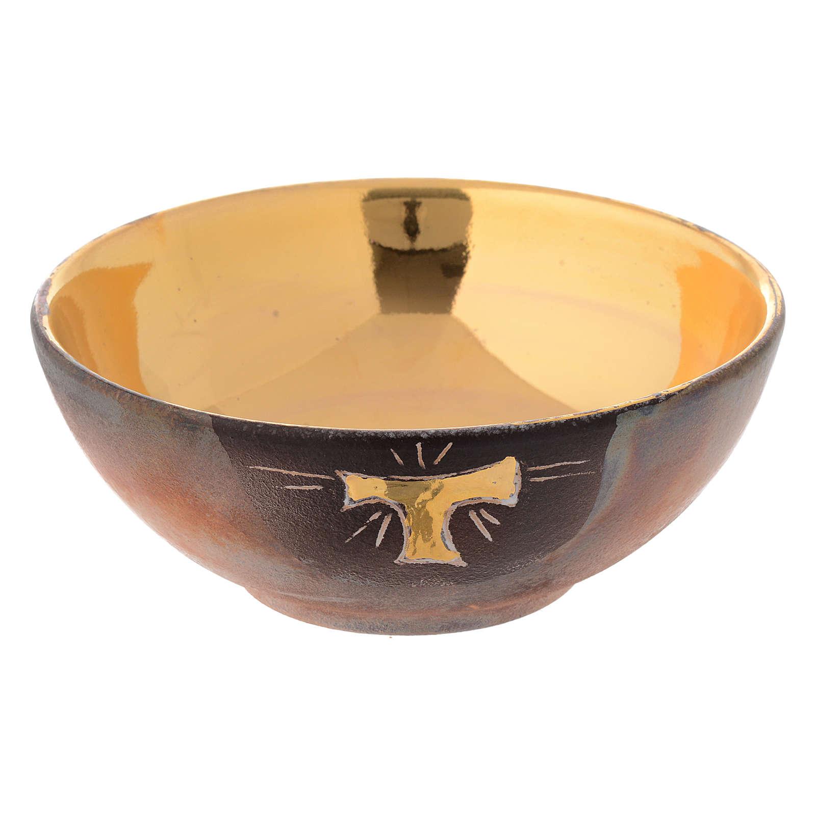 Ceramic bowl paten with tau 14 cm 4
