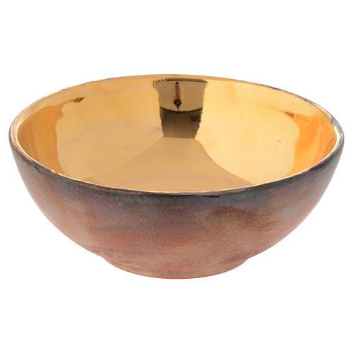 Ceramic bowl paten with tau 14 cm 2