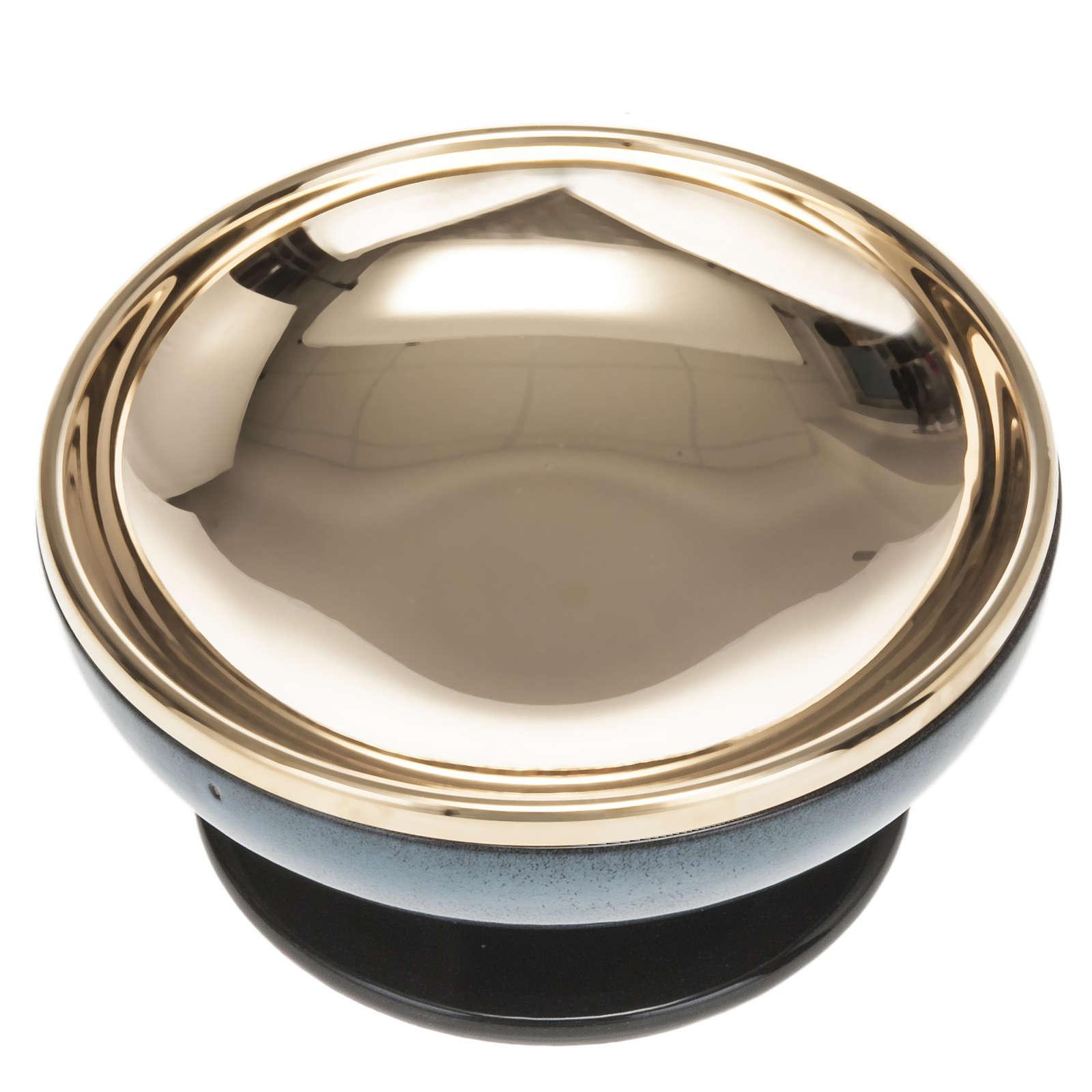 Pisside ceramica ottone dorato color turchese 4