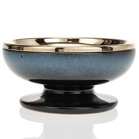 Cermic ciborium with cup, blue color s2