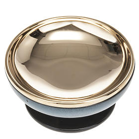 Cermic ciborium with cup, blue color s3