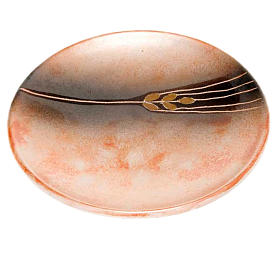 Assiette couvre calice en céramique terre cuite ancienne s1