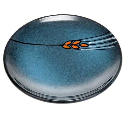 Assiette couvre calice en céramique turquoise 1