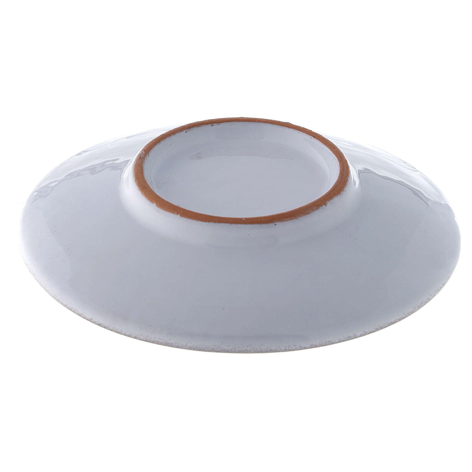 Platillo cubre cáliz, cerámica color perla 4