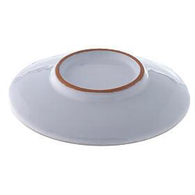 Piattino copri calice ceramica perla e oro s3