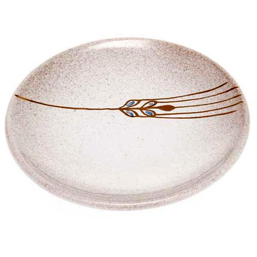 Piattino copri calice ceramica perla e oro 1