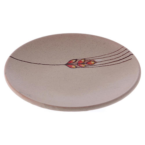 Chalice plate in ceramic, beige 1