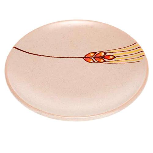 Assiette couvre calice en céramique beige 1