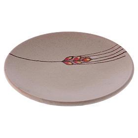 Piattino copri calice ceramica beige s1