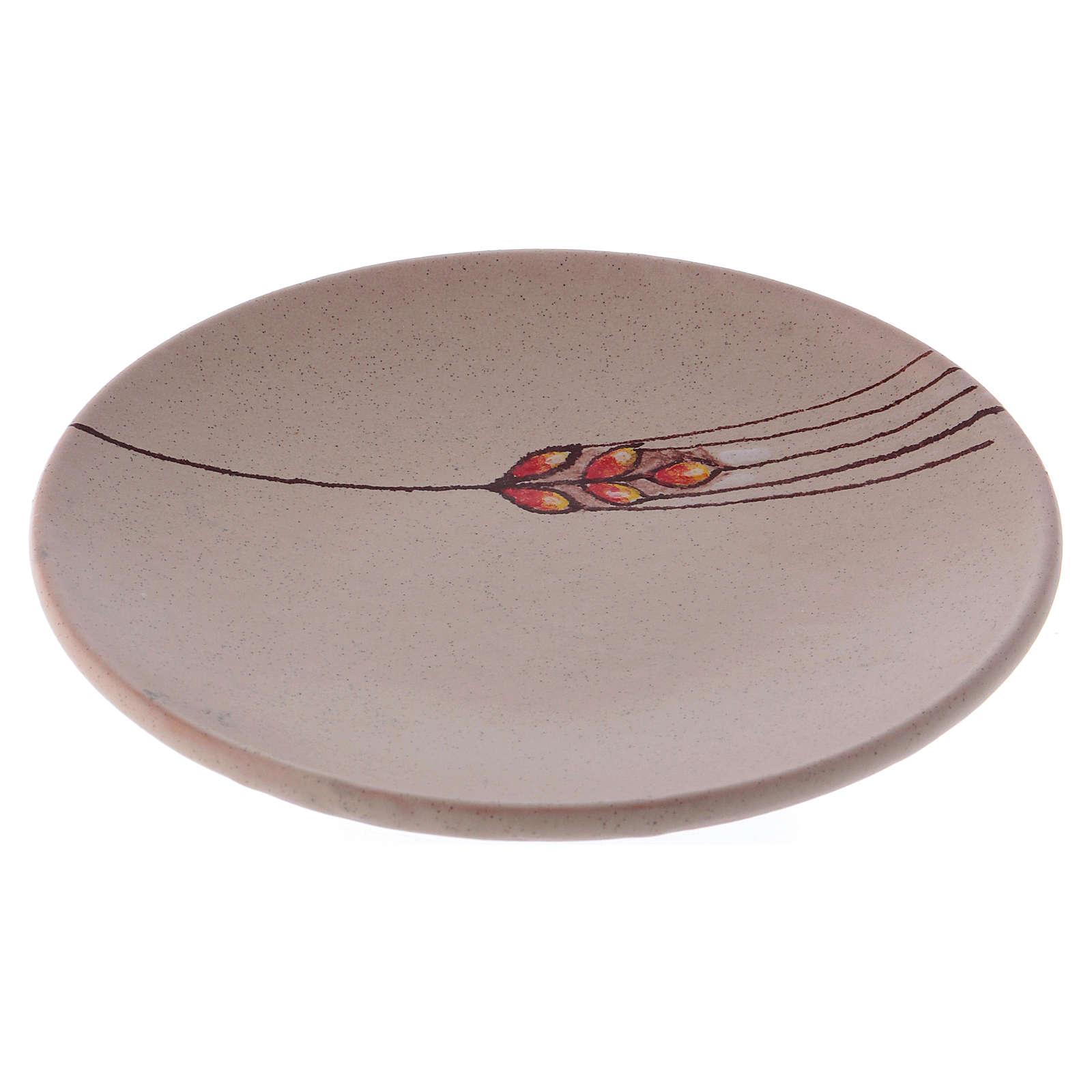 Prato para cobrir cálice cerâmica bege 4