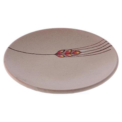Prato para cobrir cálice cerâmica bege 1