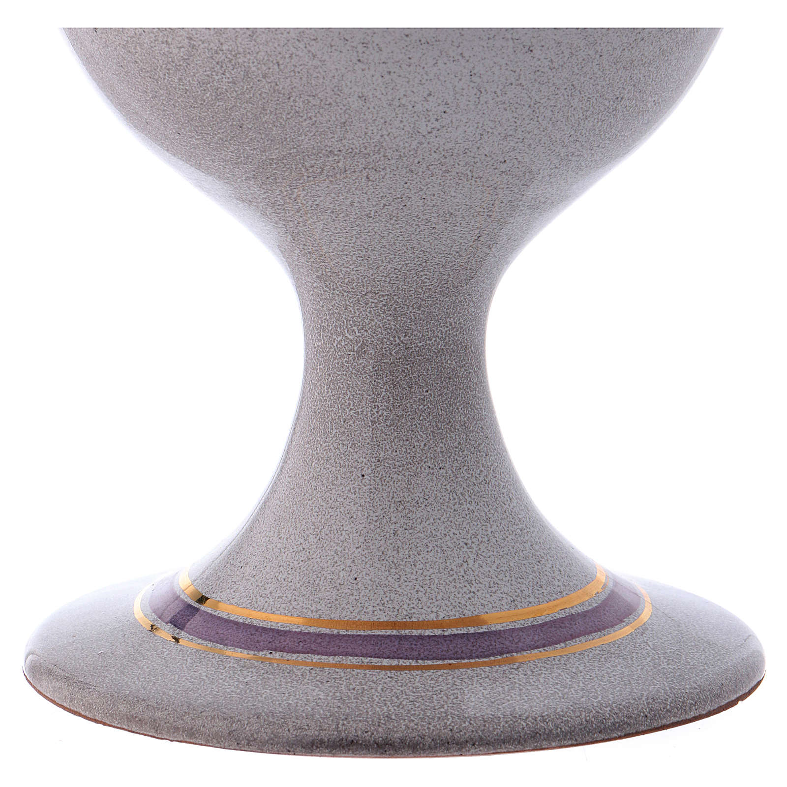 Ceramic and golden brass chalice, pearl colour 4