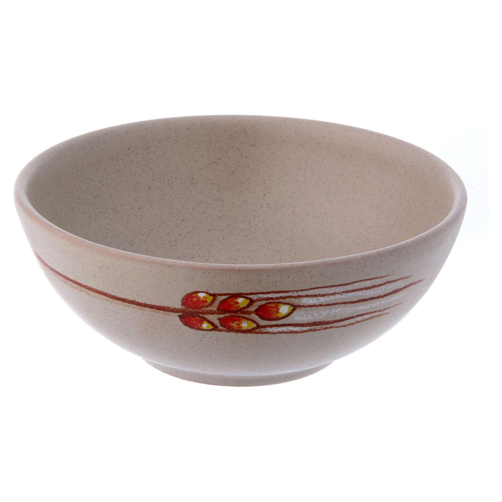 Patena ceramica diam 14 cm beige 4