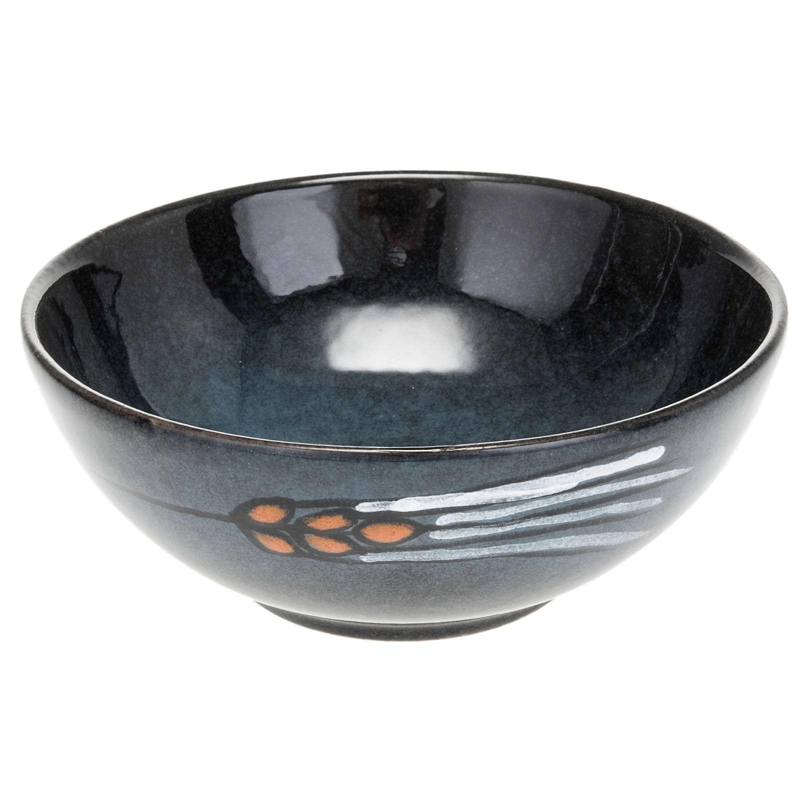 Patena ceramica diam 14 cm turchese 4