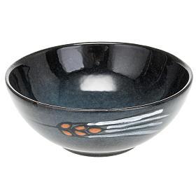 Patena ceramica diam 14 cm turchese s1