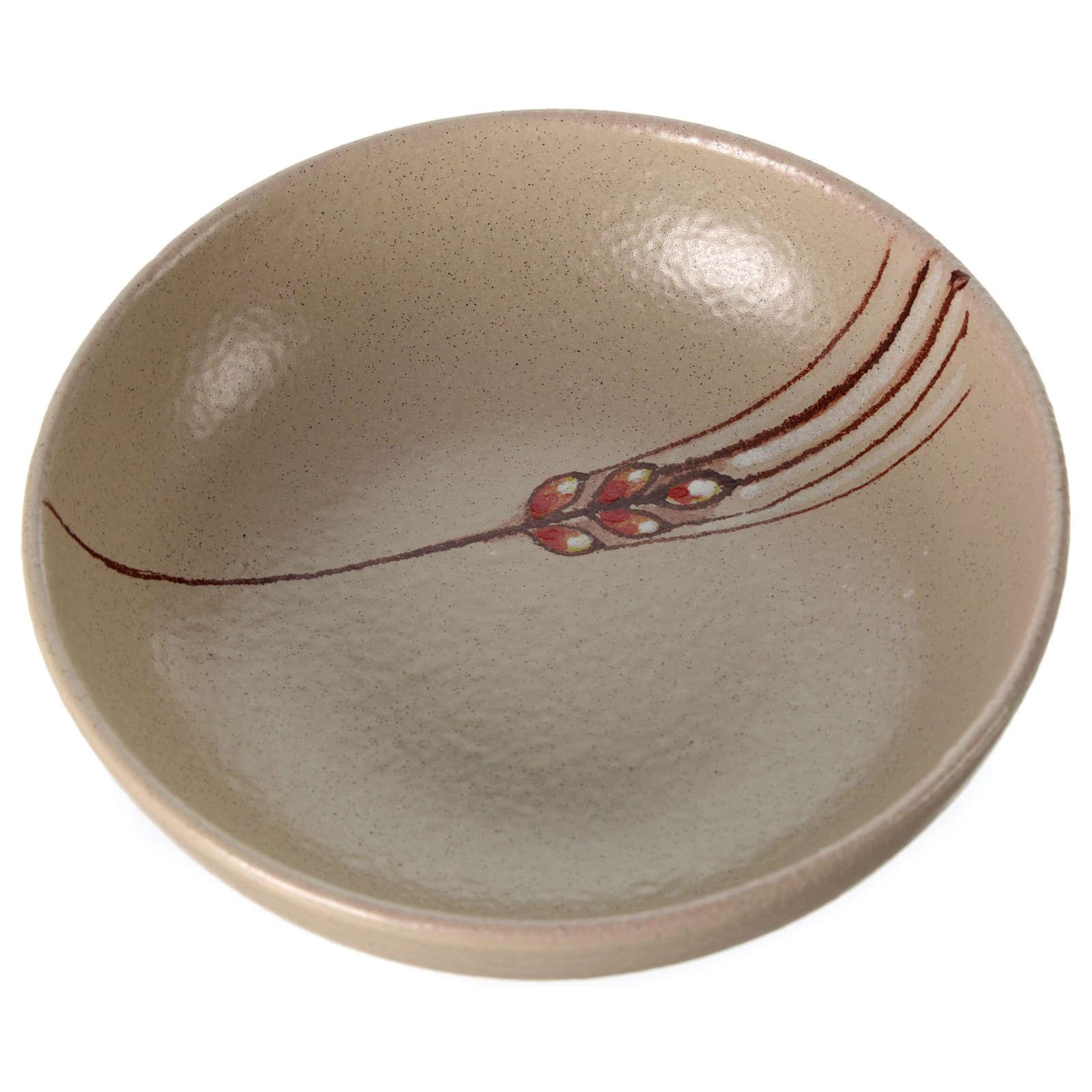 Patena de cerámica , 16cm diámetro Beis 4