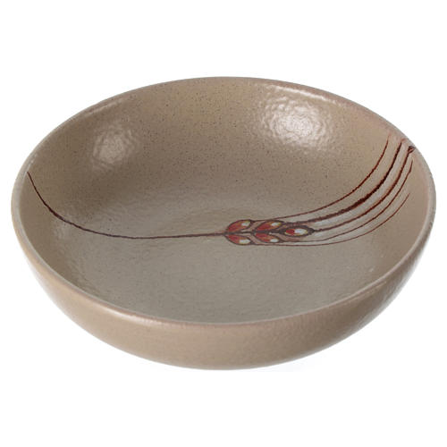 Patena ceramika średnica 16 cm beż 1
