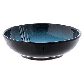Ceramic decorated paten , 16 cm, Turquoise s2
