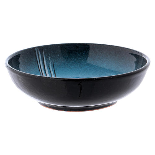 Ceramic decorated paten , 16 cm, Turquoise 2
