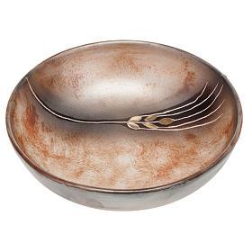Ceramic decorated paten , 16 cm, Terracotta s1