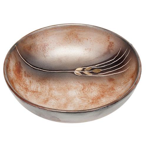 Ceramic decorated paten , 16 cm, Terracotta 1