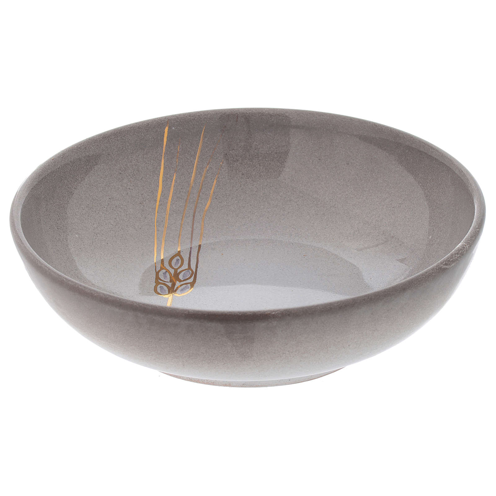 Patena ceramika artystyczna średn. 16 cm perła i zło 4