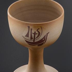 STOCK Calice ceramica color sabbia Anno della Fede s3