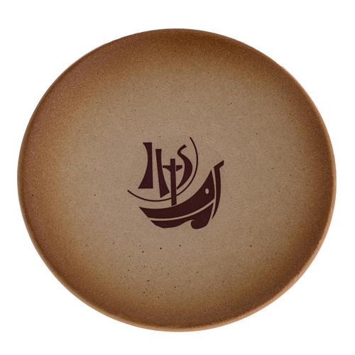 Platillo cubre cáliz de cerámica, color arena 1
