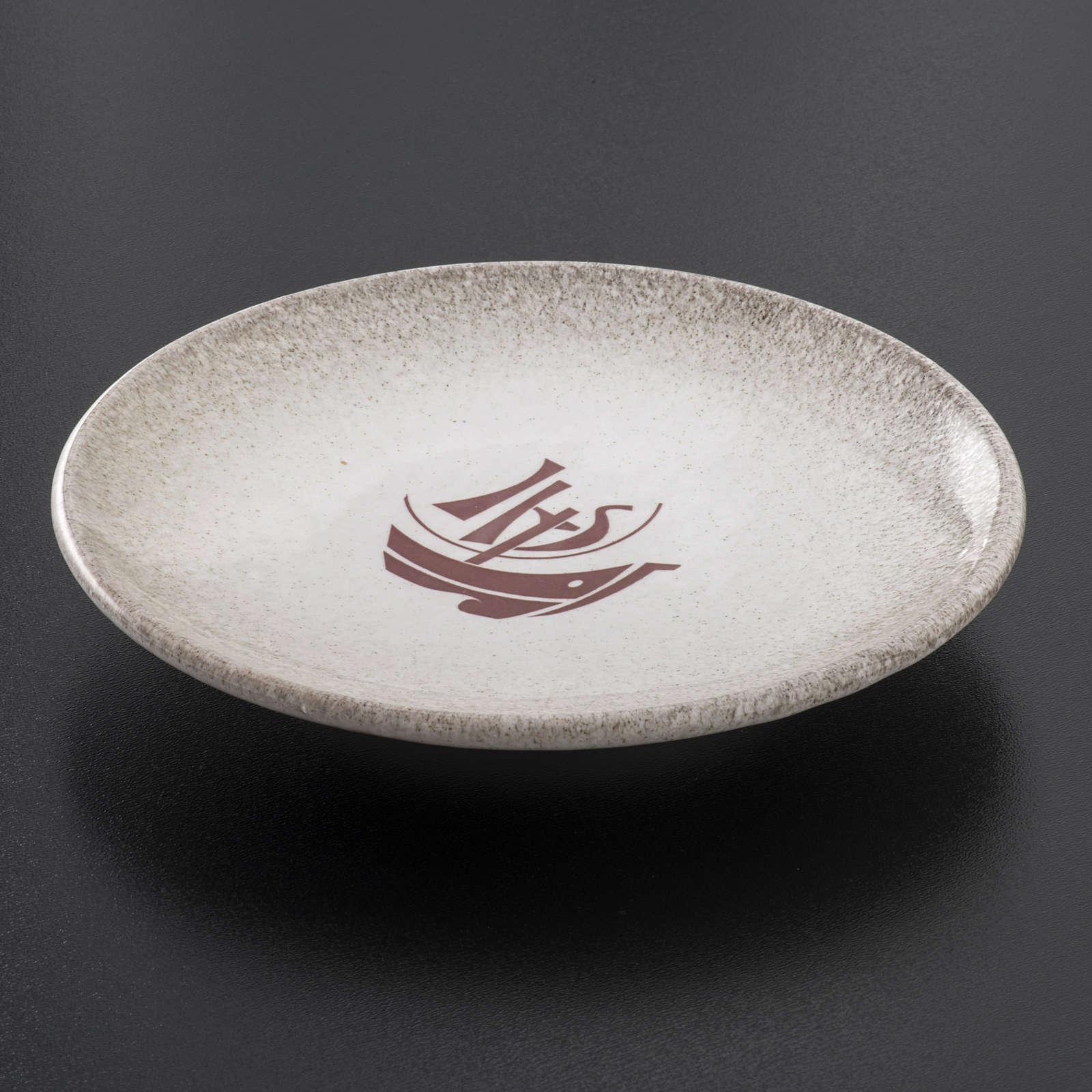 Assiette couvre calice céramique perle Année Foi 4