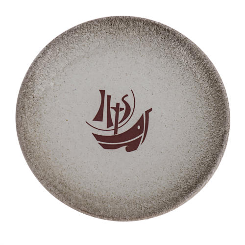 Assiette couvre calice céramique perle Année Foi 1