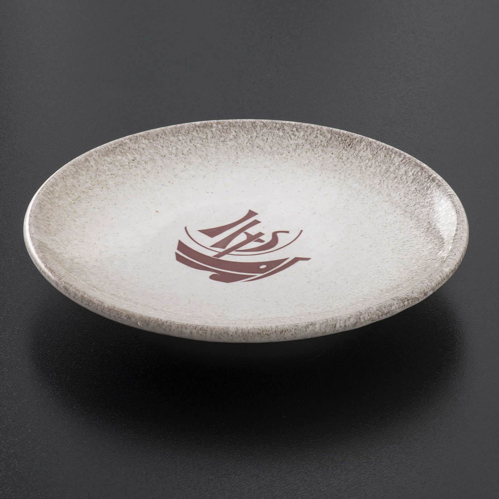 STOCK Piattino copri calice ceramica perla Anno Fede 4