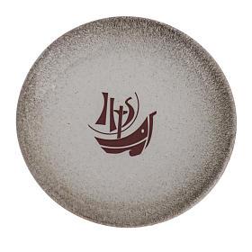 STOCK Piattino copri calice ceramica perla Anno Fede s1