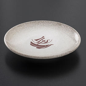 STOCK Piattino copri calice ceramica perla Anno Fede s2