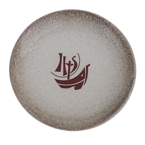 STOCK Piattino copri calice ceramica perla Anno Fede 1
