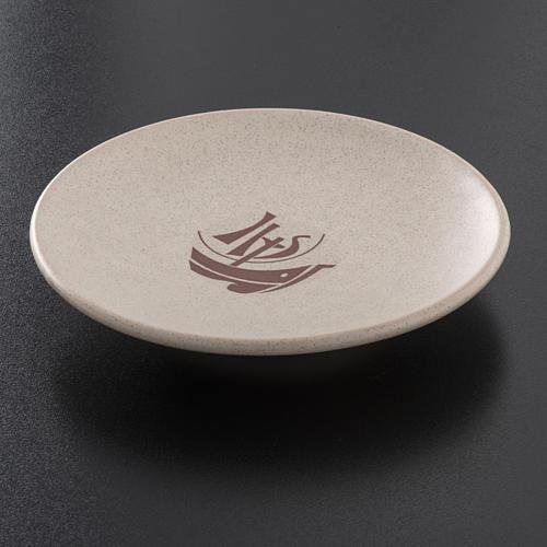 STOCK Piattino copri calice ceramica beige Anno Fede 2
