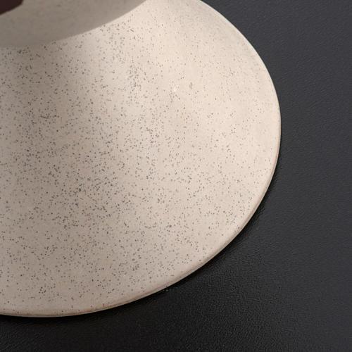 Cáliz de cerámica color beis, Año de la Fe 4