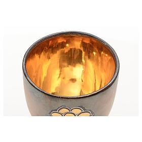 Cáliz cerámica base redonda panes y pez dorado int s3