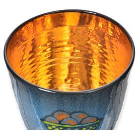 Calice per concelebrazione ceramica blu oro ceramico s4