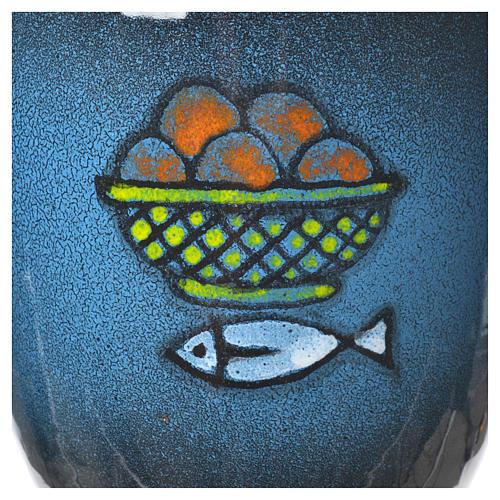 Calice per concelebrazione ceramica blu oro ceramico 3
