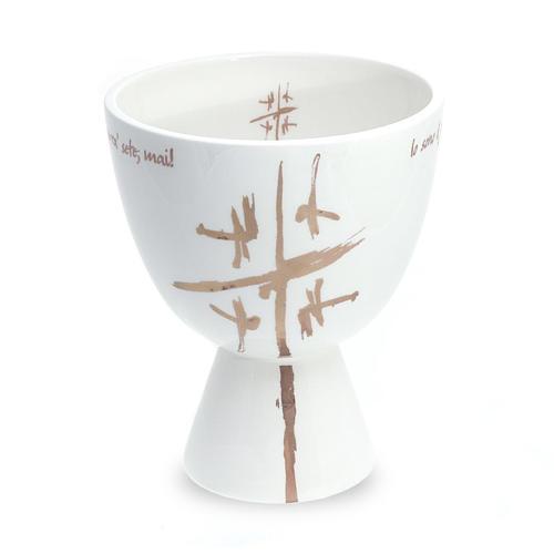 Kelch aus Keramik weiss 1