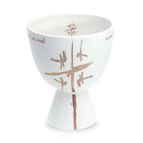 Cálice cerâmica Coppa branco s1