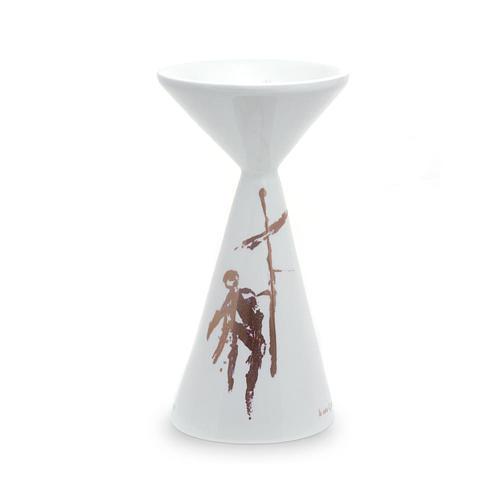 Kelch aus Keramik weiss mit Basis Linie Sbieco 1