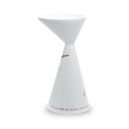 Kelch aus Keramik weiss mit Basis Linie Sbieco 2