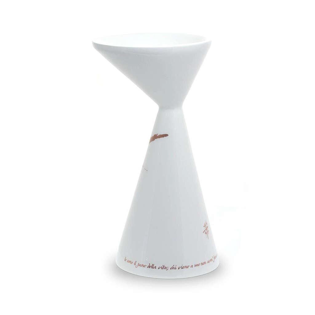 Chalice in White ceramics Sloping 4