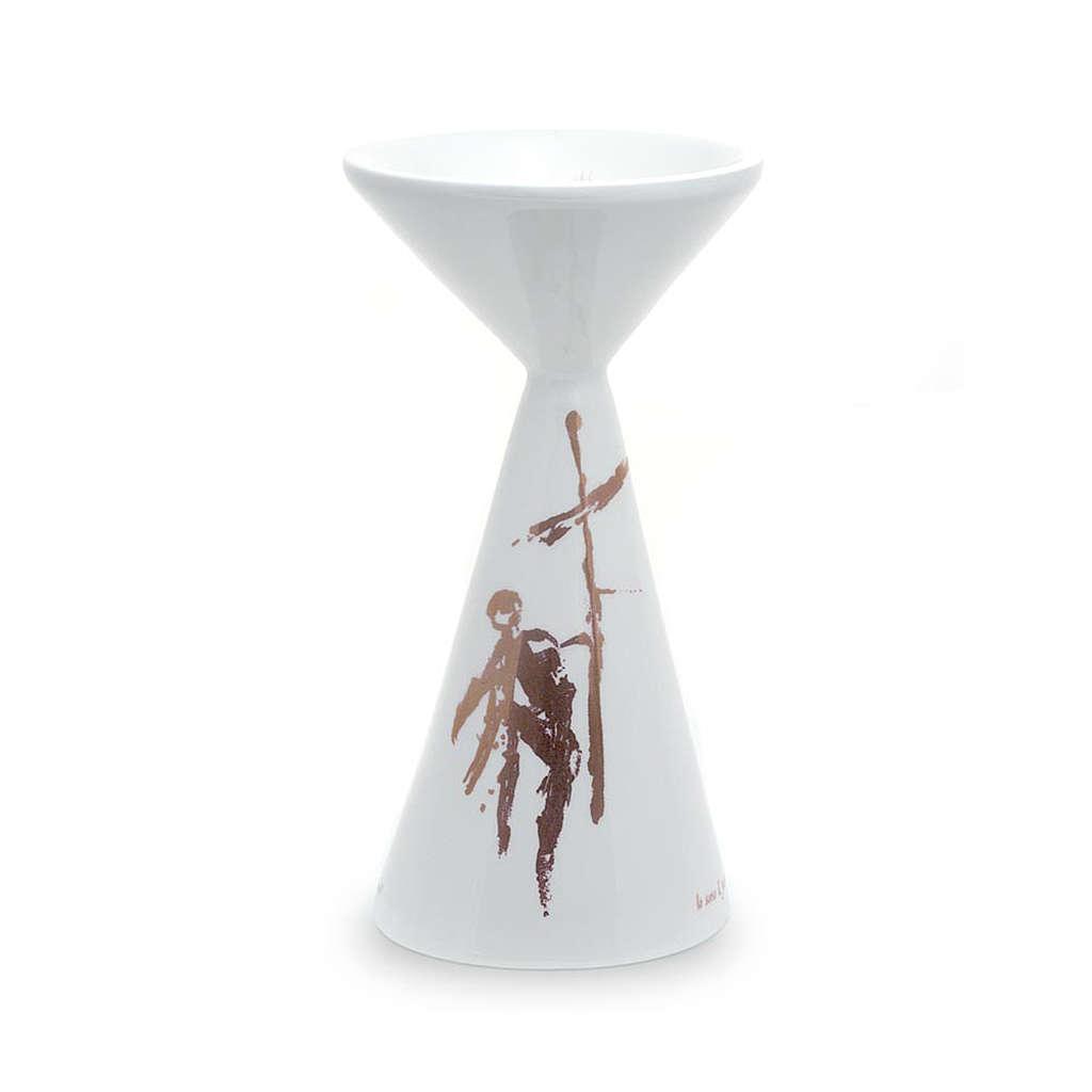 Cálice cerâmica Sbieco branco 4