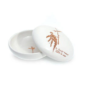 Paten White ceramics, rounded with lid s1